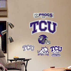 TCU Horned Frogs - Team Logo Assortment Fathead Wall Decal